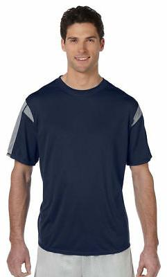 Russell Athletic Men's Moisture Wicking Polyester Short Slee
