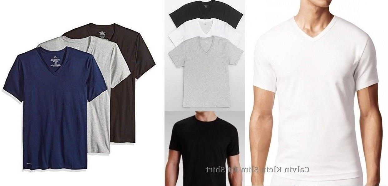 Calvin Klein Men's SLIM FIT Crew / V Neck Undershirt T-shirt