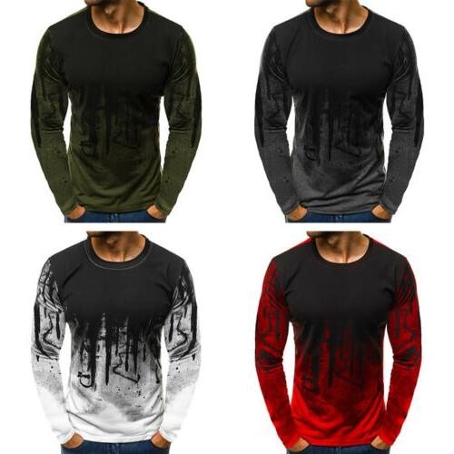 Men's Slim Tee Shirts Casual T-shirt Tops