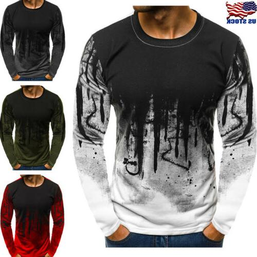 men s slim fit o neck long