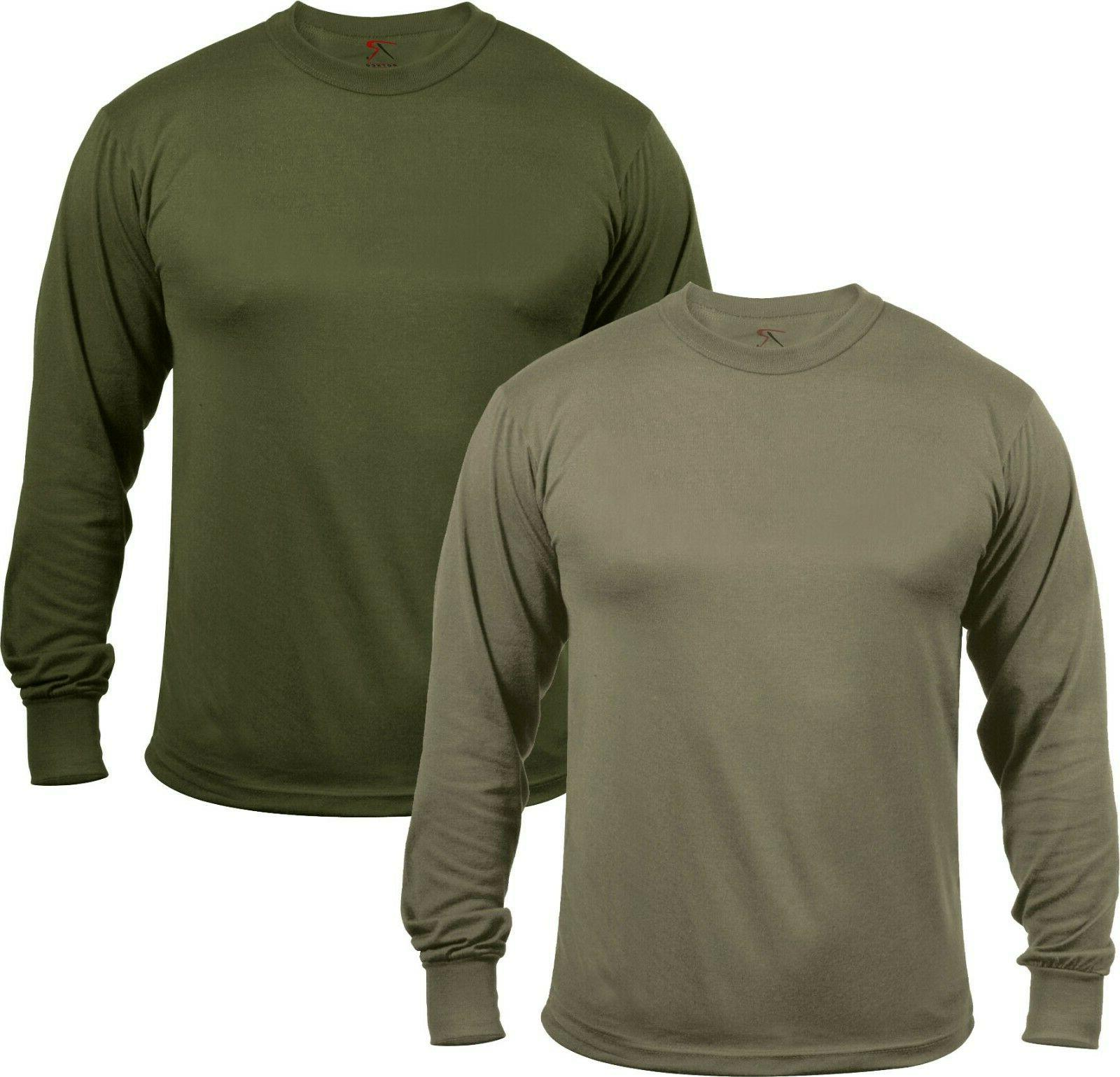 mens moisture wicking army solid long sleeve