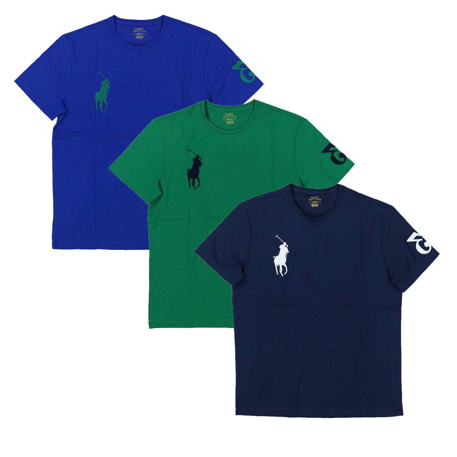 mens t shirt crew neck embroidered big