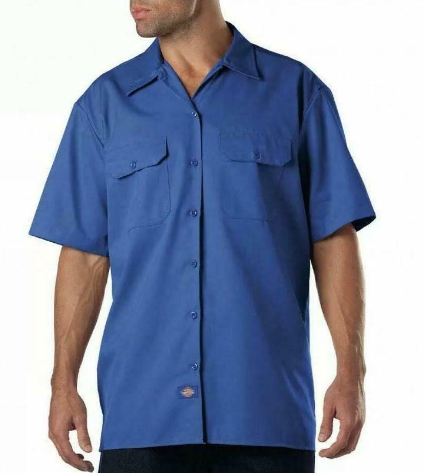 Dickies Mens Work Shirt Fit Button Down Short Sleeve NEW