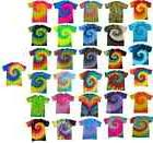 Multi-Color Tie Dye T-Shirts, Adult S M L XL 2XL 3XL 4XL 5XL