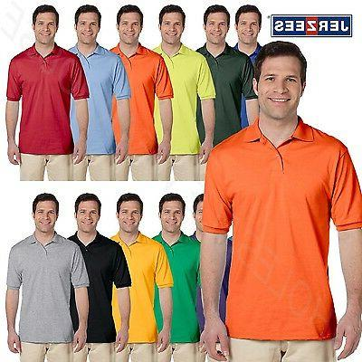 NEW Jerzees Men's 50/50 Jersey Golf Polo Shirt with SpotShie
