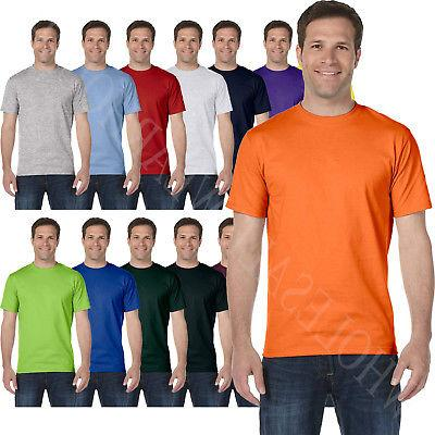 Hanes Mens T-Shirt 100% Cotton Tagless Heavyweight ComfortSo