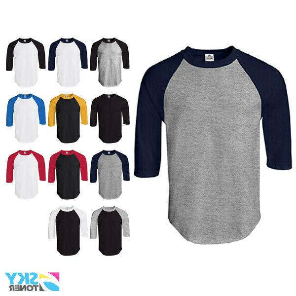 new raglan 3 4 sleeve baseball mens