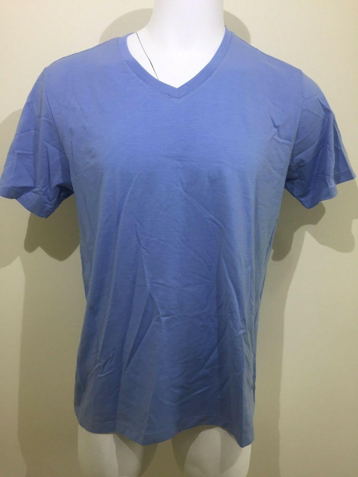 NWT Men's H2H Lifestyle Apparel Short Sleeve Light Blue V-Ne