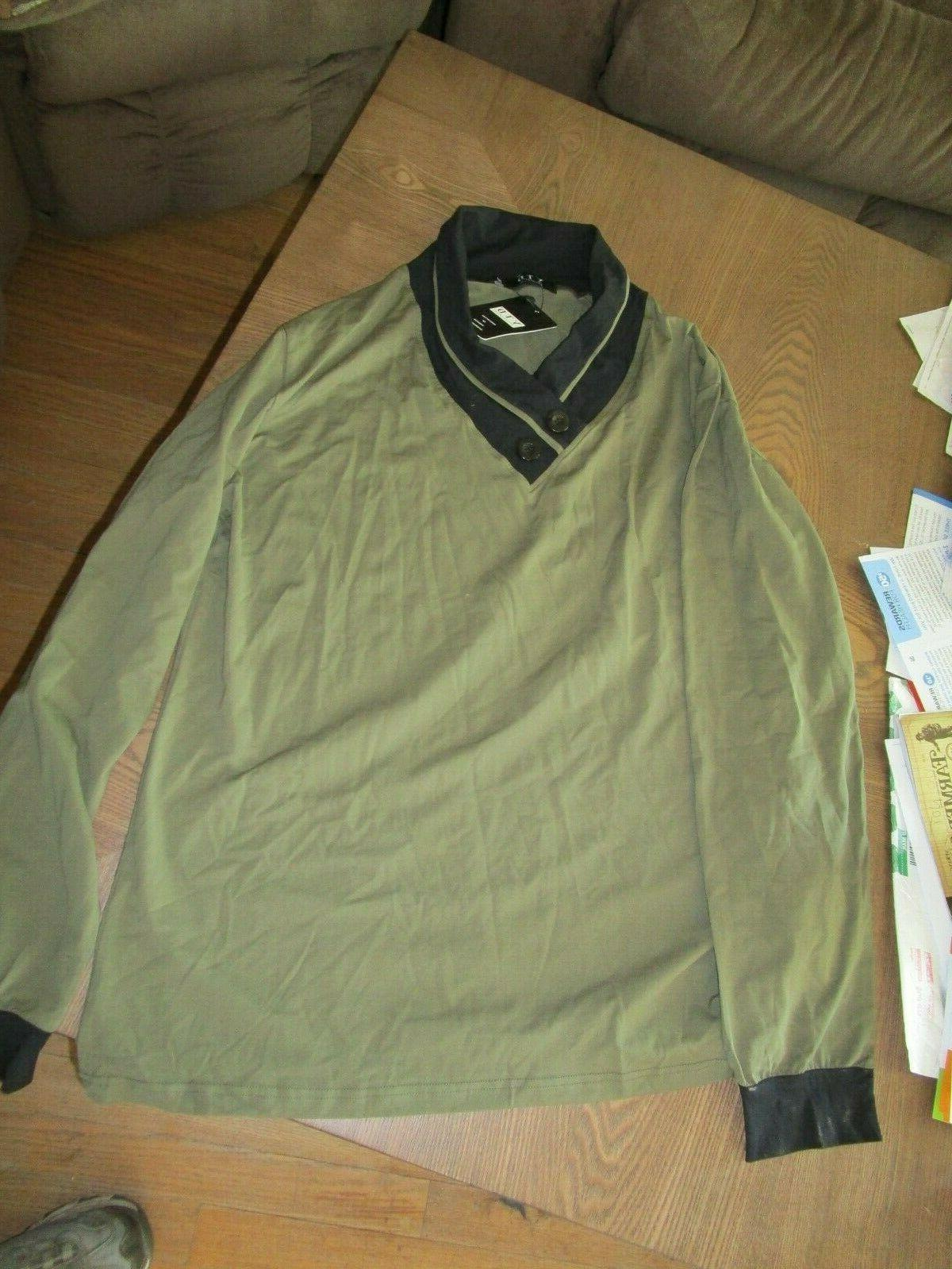 NWT 2XL Olive Green & Black 100%