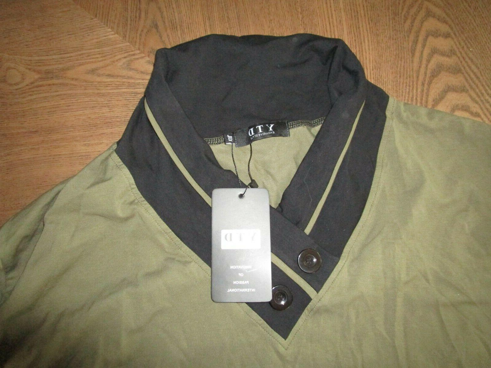NWT Exclusive Style Shirt Size 2XL Green Black 100%