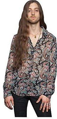 LIP SERVICE PAISLEY CHIFFON MEN MULTI COLOR SHIRT