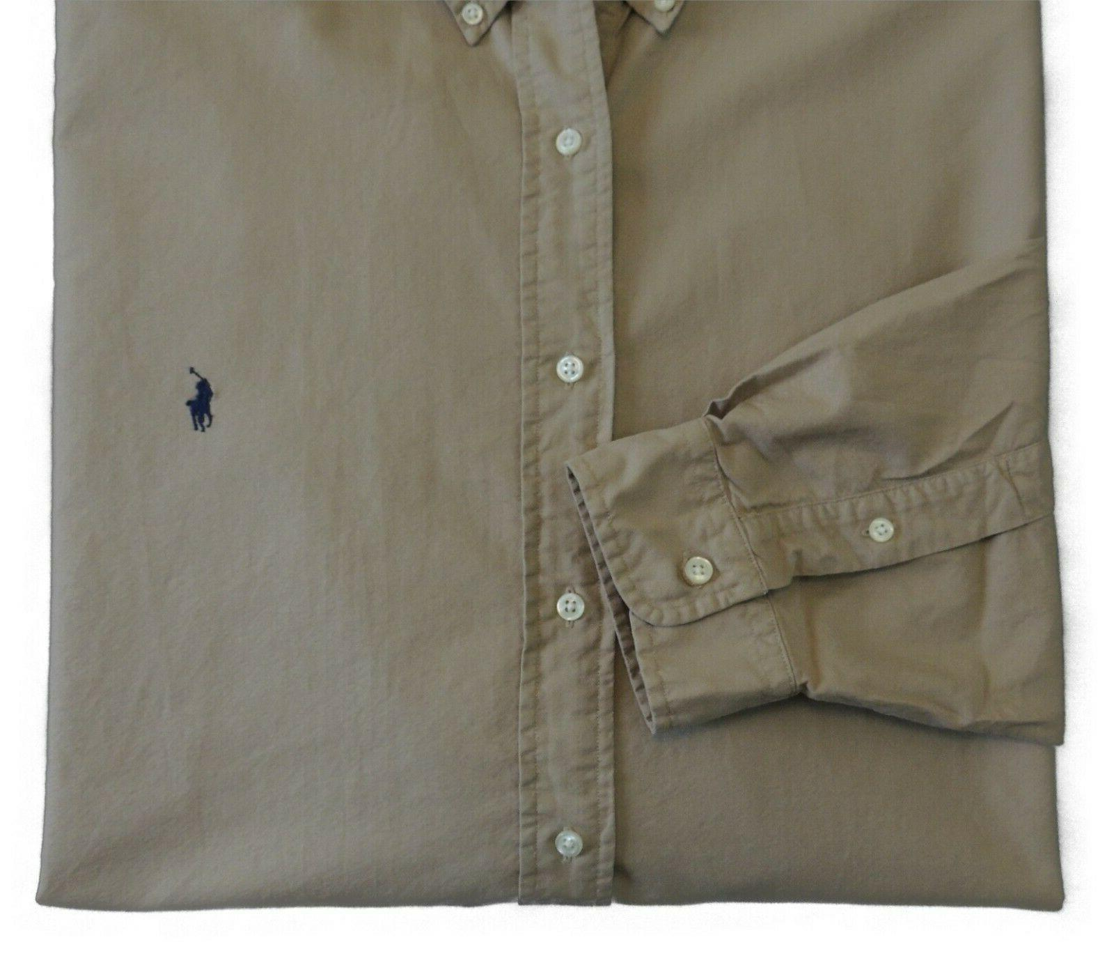 Polo Ralph Lauren Button Army Classic Oxford 3XB Tan