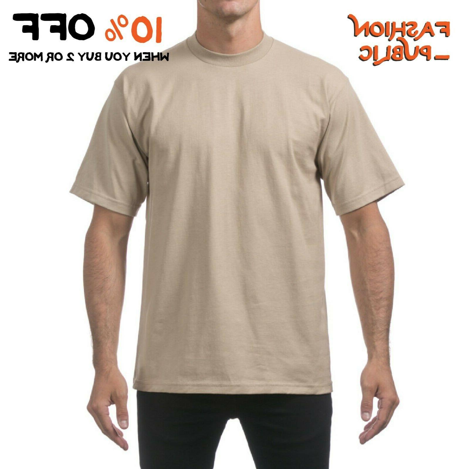 PLAIN HEAVYWEIGHT SLEEVE T TEE