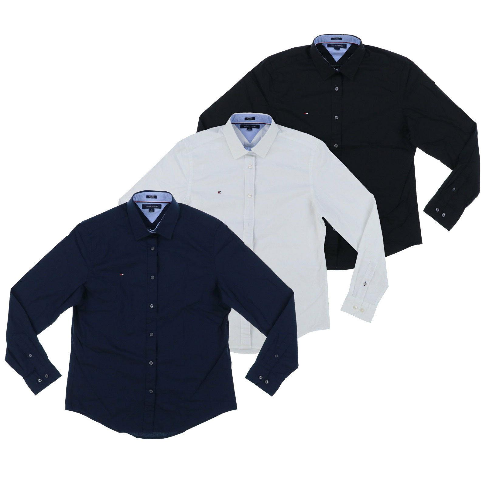Tommy Hilfiger Shirt Mens Long Sleeve Button Up Stretch Top