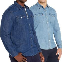 Levi's Men's Big & Tall Barstow Western Pearl Snap Casual De