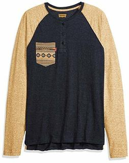 Levi's Men's Chabot Long Sleeve Snow Jersey Shirt, Crew Neck