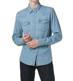 Levi's Men's Classic Barstow Western Casual Denim Light Wash
