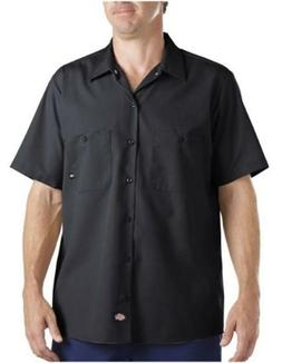 Dickies LS535BK 2X Men's Black Poly/Cotton SS Industrial Wor
