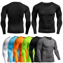Men Compression T Shirt Base Layer Tight Thermal Sport Long