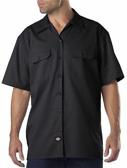 Dickies Men's Big and Tall Short Sleeve Work Shirt, Black, 2