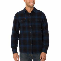 Orvis Men's Big Bear Heavy Weight Flannel Shirt - BLUE  FAST