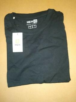 Men's H2H Black Short Sleeve T-shirt, Size L