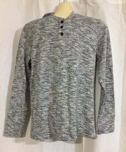 H2H Men's Casual V-Neck Henley T-Shirts Long Sleeve Knitted