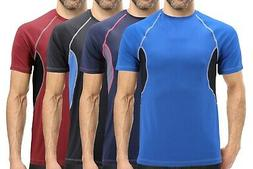 Men's Cool Quick-Dry Gym Workout Sport Running Breathable Pe