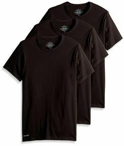 Calvin Klein Men's Crew Neck-3 pack Slim Fit Black T-shirt