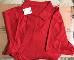 Calvin Klein Men's Liquid Cotton SL Red  Polo Shirt, Size Xl