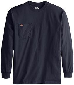 Dickies Men's Long Sleeve Heavyweight Crew Neck, Dark Navy,