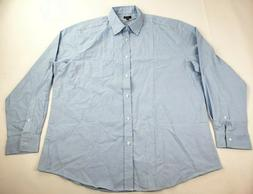 Lee Uniforms Men's Long Sleeve Oxford Shirt, Light Blue, X-L