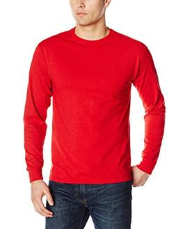 Jerzees Men's Long-Sleeve T-Shirt, True Red, Large