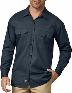 DICKIES MEN'S LONG SLEEVE WORK SHIRT DARK NAVY 574DN