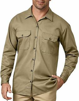 DICKIES MEN'S LONG SLEEVE WORK SHIRT KHAKI 574KH