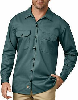 DICKIES MEN'S LONG SLEEVE WORK SHIRT LINCOLN GREEN 574LN