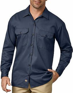 DICKIES MEN'S LONG SLEEVE WORK SHIRT NAVY 574NV