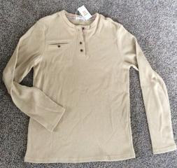 H2H Men's NEW Thermal Waffle Knit Long Sleeve Shirt Size M