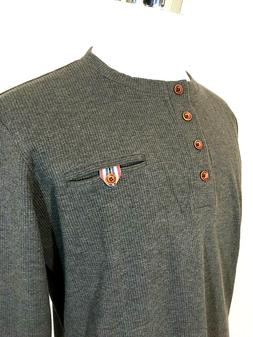 H2H Men's NEW Thermal Waffle Knit Long Sleeve Shirt SIZE XL