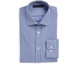 Tommy Hilfiger Men's Non Iron Slim Fit Solid Spread Collar D
