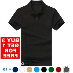 Men's Polo Shirt Golf Sports Cotton Short Sleeve Jersey Casu