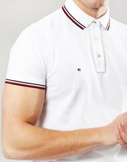 Tommy Hilfiger Men's Polo Shirt Solid Classic Sexy Fit Inter