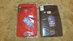 Dickies Men's Polo Shirts, 4XL,  Red & Dark Navy