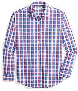 Amazon Essentials Men's Regular-Fit Long-Sleeve Plaid Casual