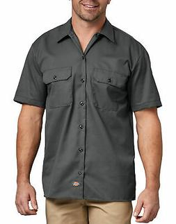 DICKIES MEN'S SHORT SLEEVE WORK SHIRT CHARCOAL 1574CH