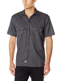 Dickies Men's Short-Sleeve Work Shirt, Charcoal, Large