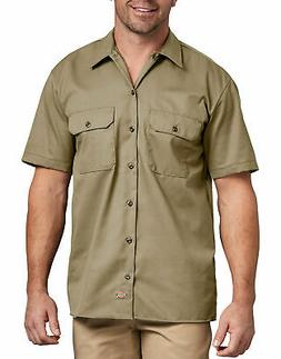 DICKIES MEN'S SHORT SLEEVE WORK SHIRT KHAKI 1574KH
