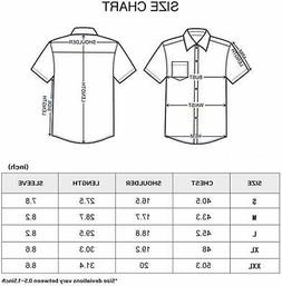 LOCALMODE Men's Slim Fit Cotton Business Casual Shirt Solid,