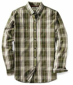 Goodthreads Men's Slim-Fit Long-Sleeve Plaid Slub Shirt - Ch