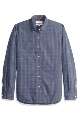 Goodthreads Men's Slim-Fit Long-Sleeve Plaid Poplin Shirt, 3